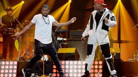 Watch: Usher Scorches The 'iHeart Radio Music Festival' / Has Dance off With Chris Brown