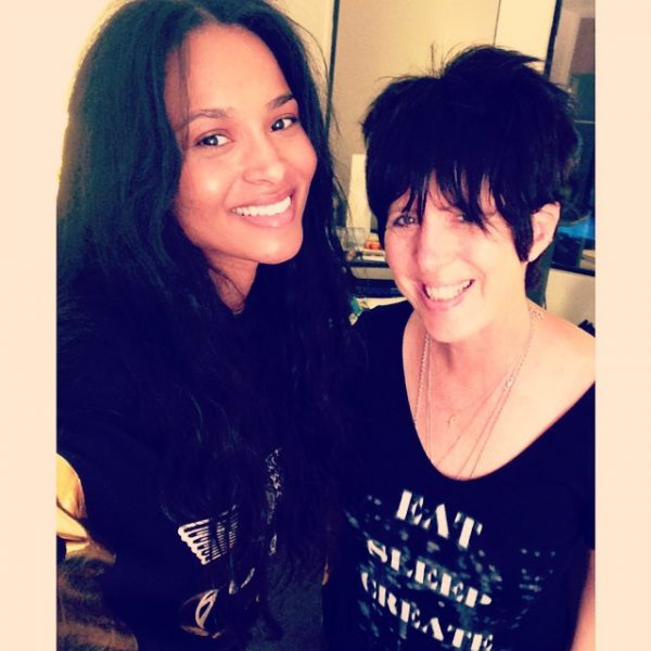 ciara diane warren thatgrapejuice 600x600 Hot Shot: Ciara Hits Studio With Diane Warren