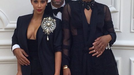Hot Shot: Ciara & Kim Kardashian Strike A Pose In Paris