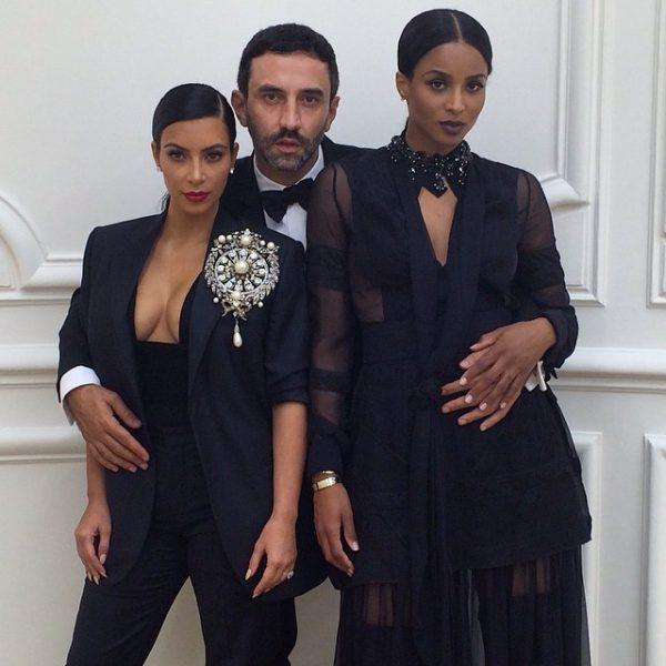 ciara kim kardashian thatgrapejuice 600x600 Hot Shot: Ciara & Kim Kardashian Strike A Pose In Paris