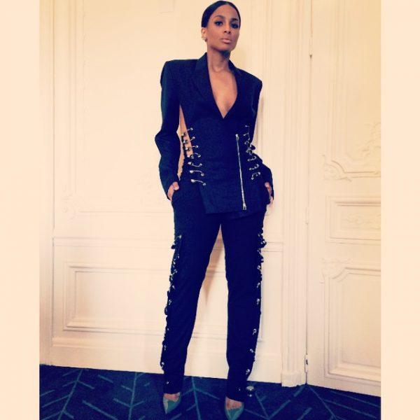 ciara pfw thatgrapejuice 600x600 Hot Shots: Ciara Stuns At Paris Fashion Week