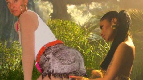 Did You Miss It?:  Ellen Spoofs Nicki Minaj's 'Anaconda' Video