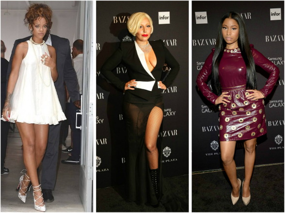 gaga rihanna nicki minaj thatgrapejuice NYFW Hot Shots:  Lady Gaga, Rihanna, and Nicki Minaj Turn Heads At NYFW