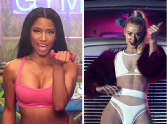 iggy azalea nicki minaj thatgrapejuice Chart Check:  Nicki Minaj & Iggy Azalea Continue Tight Grips On Hot 100