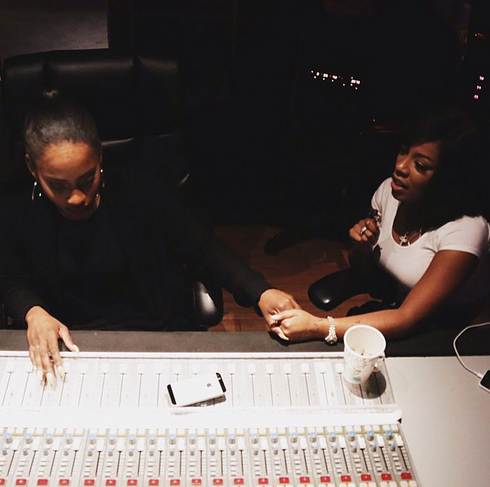 k.michelle sevyn streeter that grape juice Sevyn Streeter Hits The Studio With...K. Michelle