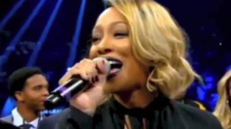 Watch:  Monica Performs U.S. National Anthem At Mayweather/Maidana Fight