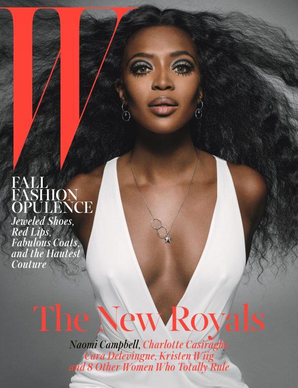 naomi campbell w magazine thatgrapejuice 600x780 Naomi Campbell Wows W Magazine / Right Or Wrong Reasons?