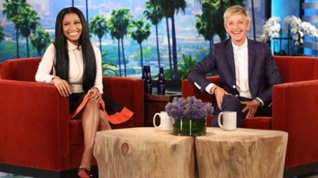 Did You Miss It?:  Nicki Minaj Drops By 'Ellen' / Weighs In On 'Anaconda' Spoof