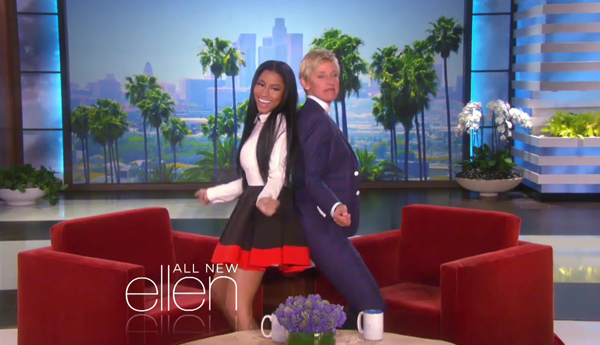 nicki minaj ellen show that grape juice 2014 1100png Watch: Nicki Minaj Teases Ellen Appearance As Anaconda Goes Gold
