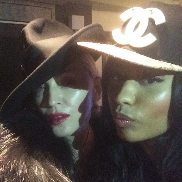 nicki minaj madonna thatgrapejuice 600x600 Collaboration? Nicki Minaj & Madonna Catch Up In New York