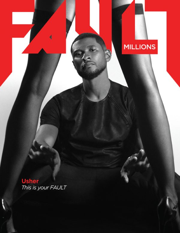usher fault magazine thatgrapejuice 600x778 Usher Covers Fault Magazine / Talks New Music, Movies, & More