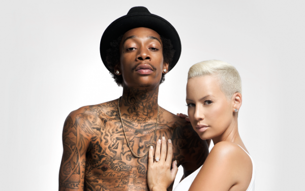 wiz khalifa amber rose thatgrapejuice 600x376 Amber Rose Files For Divorce From Wiz Khalifa