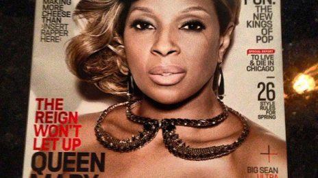 Hot Shot:  Mary J. Blige Beams Afront February 'Vibe' Magazine