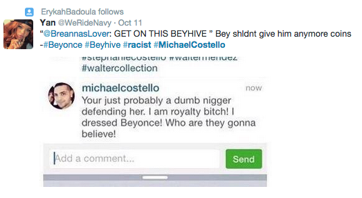 Screen Shot 2014 10 17 at 14.56.09 Beyonce Fans Call On Star To Cut Ties With Racist Fashion Designer