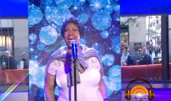 aretha franklin 2014 thatgrapejuice Watch: Aretha Franklin Performs At Last On The Today Show