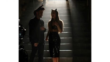 Hot Shots: Ariana Grande & The Weeknd Shoot 'Love Me Harder' Video