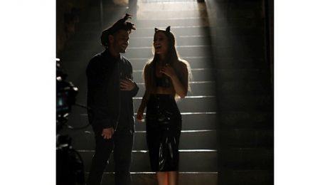Hot Shots: Ariana Grande & The Weeknd Shoot 'Love Me Harder' Video