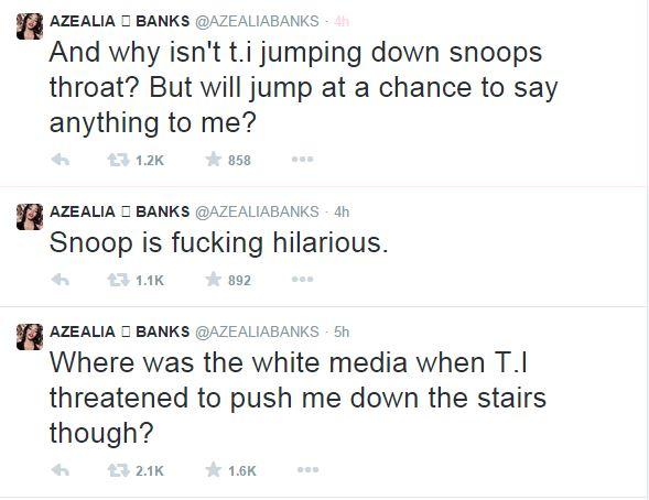 azealia banks thatgrapejuice iggy snoop Watch:  Snoop Dogg Issues Apology To Iggy Azalea / Azealia Banks Weighs In