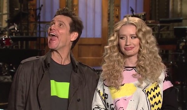 iggy azalea snl thatgrapejuice Watch: Iggy Azalea & Jim Carrey Star In Saturday Night Live Promos