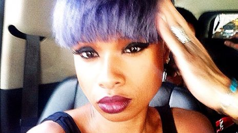 Jennifer Hudson Debuts New Purple Hair 'Do