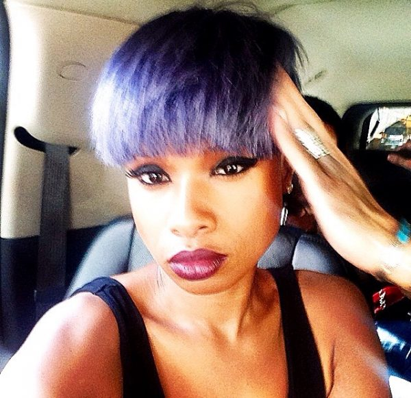 jennifer hudson hair2 thatgrapejuice 600x581 Jennifer Hudson Debuts New Purple Hair Do