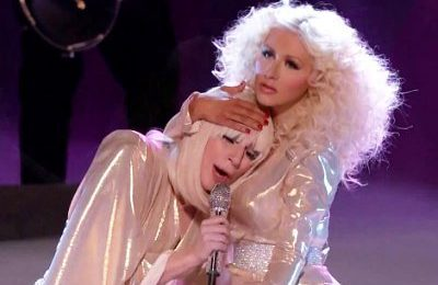 'Cheek To Cheek': 'Vanity Fair' Compares  Lady GaGa To Christina Aguilera