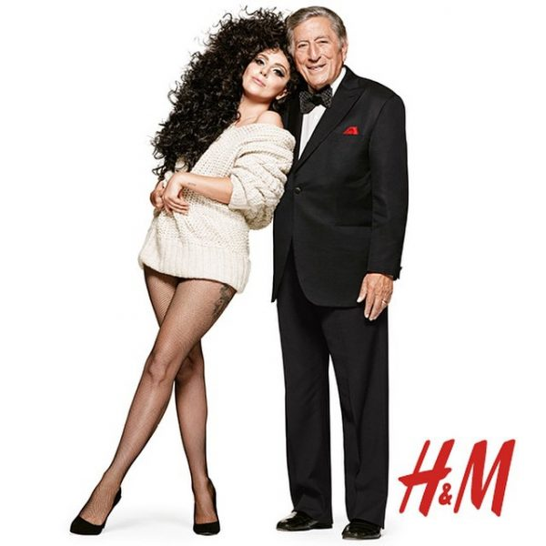 lady gaga tony bennett hm 2 thatgrapejuice 600x600 Lady GaGa & Tony Bennett Beam In New H&M Holiday Campaign / Preview Commercial