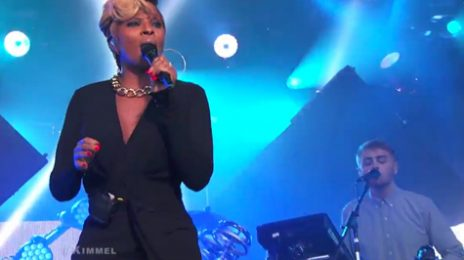 Watch: Mary J. Blige & Disclosure Perform 'F For You' On 'Jimmy Kimmel Live'