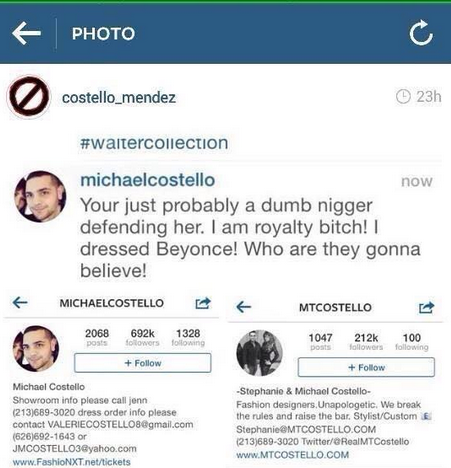 michael costello racist that grape juice1 Beyonce Designer Blasts Racism Claims In New Statement