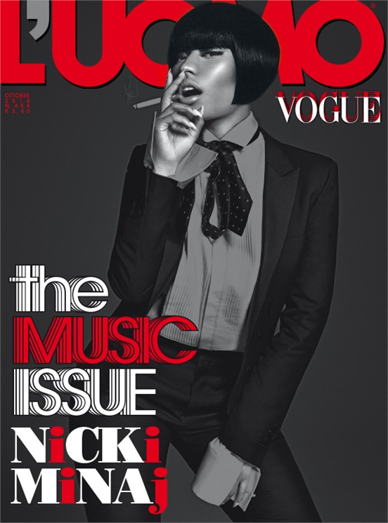 nicki minaj vogue thatgrapejuice Nicki Minaj Covers LUomo Vogue / Talks Wishes For Music, Marriage, & Motherhood