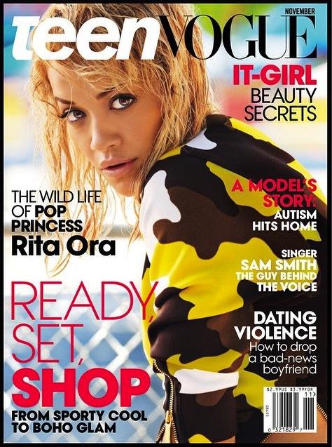rita ora teen vogue thatgrapejuice Rita Ora Rocks Teen Vogues November Issue (Double Cover)