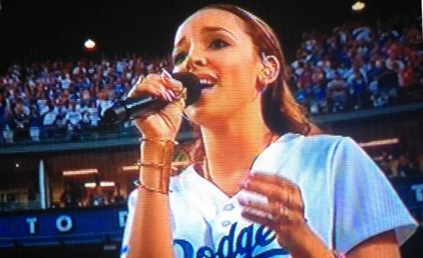 tinashe dodgers thatgrapejuice Watch: Tinashe Performs US National Anthem At Dodgers Game