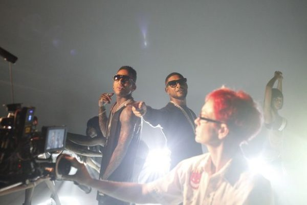 tinashe usher kid ink 3 thatgrapejuice 600x400 Hot Shots: Usher & Tinashe Shoot Body Language Video With Kid Ink