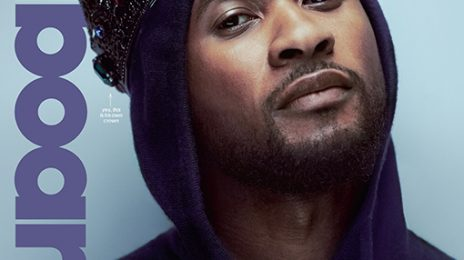 Usher Covers Billboard Magazine Wearing A Crown / Explains Album Delay