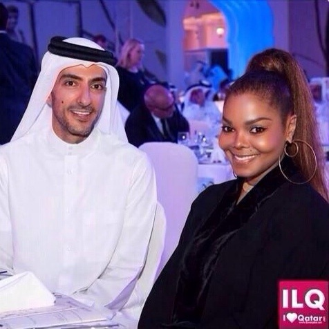 20141115 212129 Hot Shot: Janet Jackson All Smiles With Wissam In Qatar