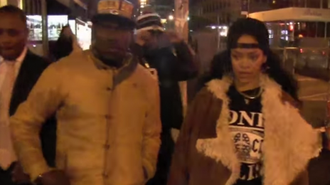 Watch: Rihanna Dines In NYC Ahead Of New Album Release