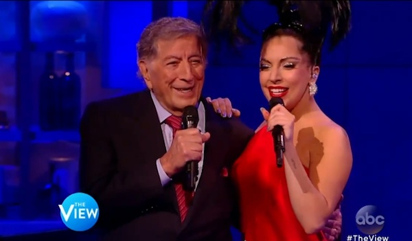 gaga bennett the view thatgrapejuice Watch: Lady GaGa & Tony Bennett Belt Cheek To Cheek On The View