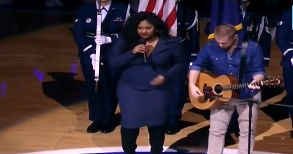 jazmine sullivan us national anthem thatgrapejuice Must See: Jazmine Sullivan Soars With US National Anthem At NBA Game