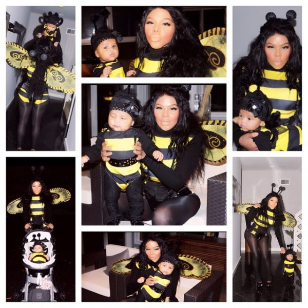 lil kim royal reign halloween thatgrapejuice 600x600 Hot Shots: Lil Kim Celebrates First Halloween With Daughter Royal Reign