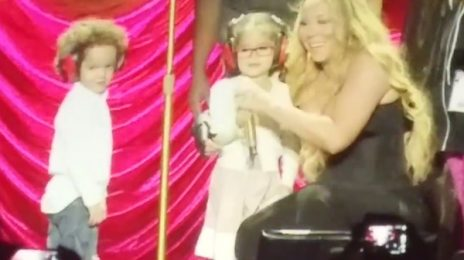 Watch: Mariah Carey Brings Her Twins Monroe & Moroccan On-Stage To Perform