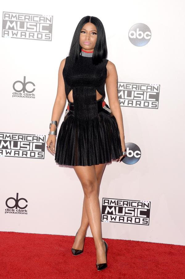 nicki minaj ama thatgrapejuice American Music Awards 2014: Red Carpet Arrivals