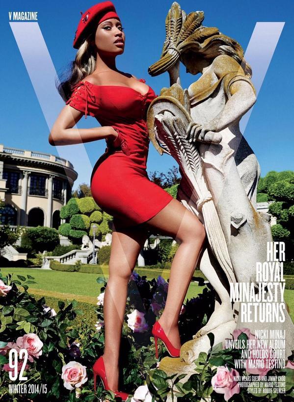 nicki minaj v magazine that grape juice 2014 11 Must See: Nicki Minaj Covers V
