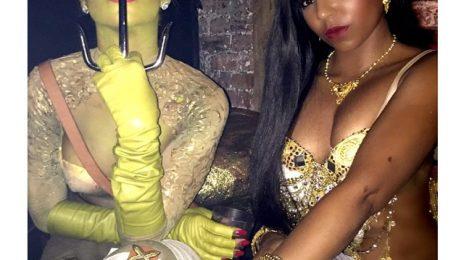 Hot Shot: Rihanna Hangs With Ashanti On Halloween