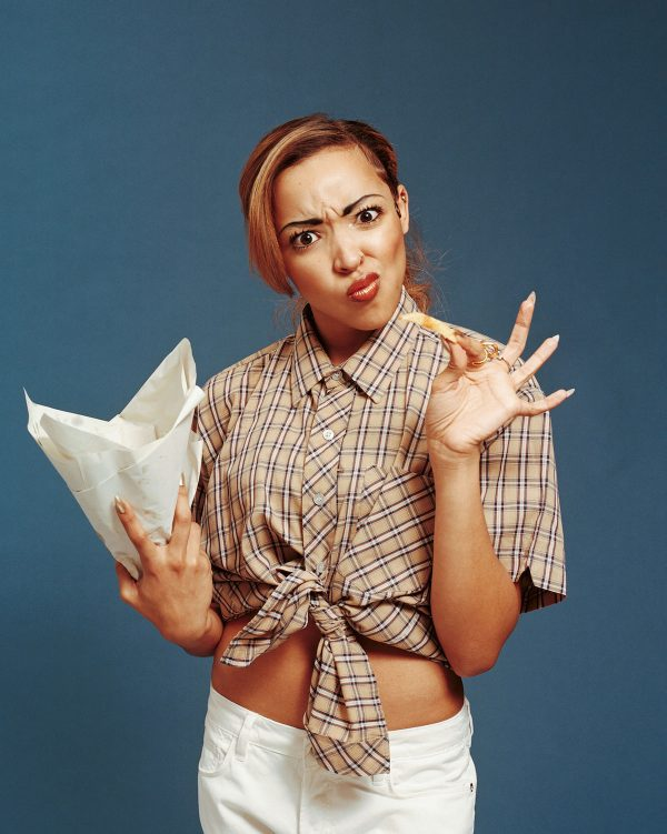 tinashe vice 2 thatgrapejuice 600x751 Hot Shots: Tinashe Tributes British Fashion For VICE