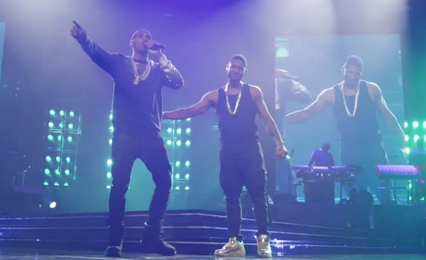 ur experience usher trey songz august alsina thatgrapejuice Watch: Usher, August Alsina & Trey Songz Perform Together On The UR Experience Tour