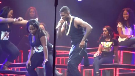 Hilarious: Usher Slow Dances With Fans On 'The UR Experience'