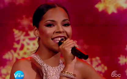 Watch: Ashanti Performs 'Santa Baby' On 'The View'