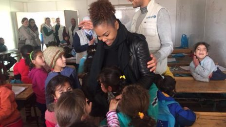 Hot Shots: Janet Jackson Visits Unicef Zaatari Refugee Camp