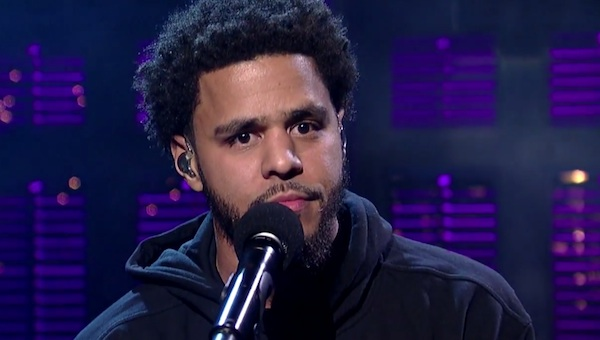 jcole letterman thatgrapejuice Must See: J. Cole Powerfully Performs Be Free