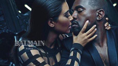 Hot Shots:  Kim Kardashian and Kanye West Strike A Pose As the New Faces of Balmain